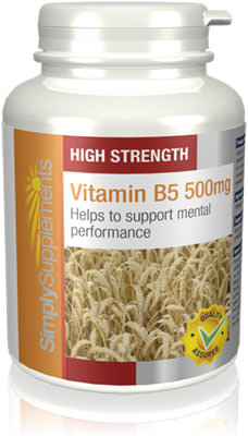 90 Tablet Tub - vitamin b5 supplement 500mg