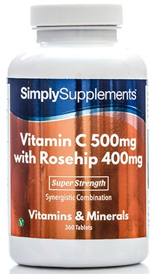120 Tablet Tub - vitamin c with rosehip