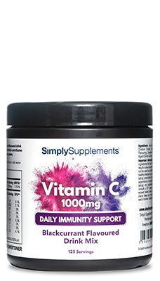 Vitamin C 1000mg Powder – Blackcurrant Flavour