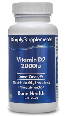 Vitamin D2 Tablets 2,000iu