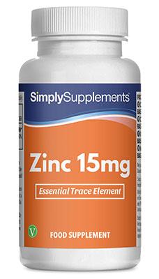 120 Capsule Tub - zinc tablets 15mg