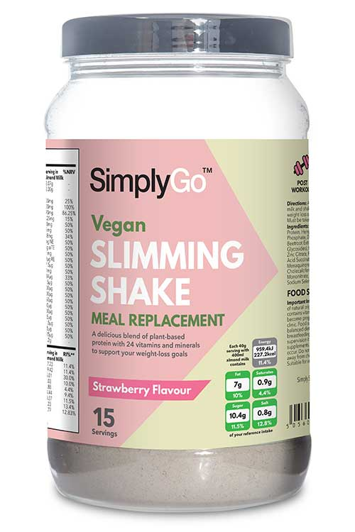 Vegan Slimming Shake - Strawberry Flavour - SG28