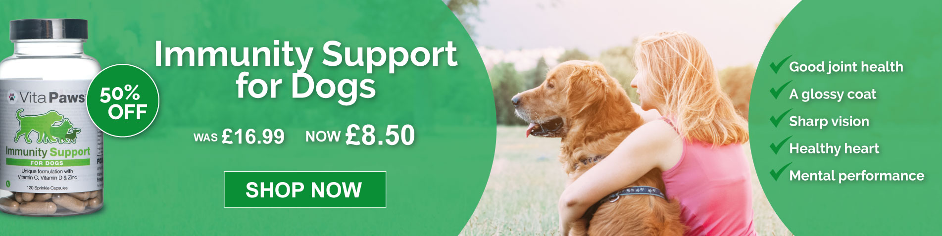 50% off Immunity Support for Dogs