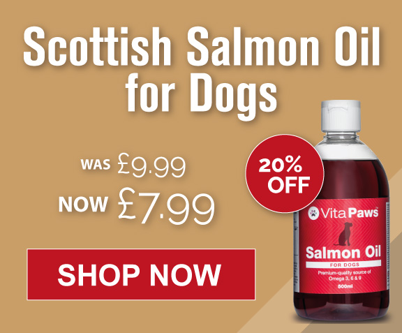 20% off Salmon Oil for dogs