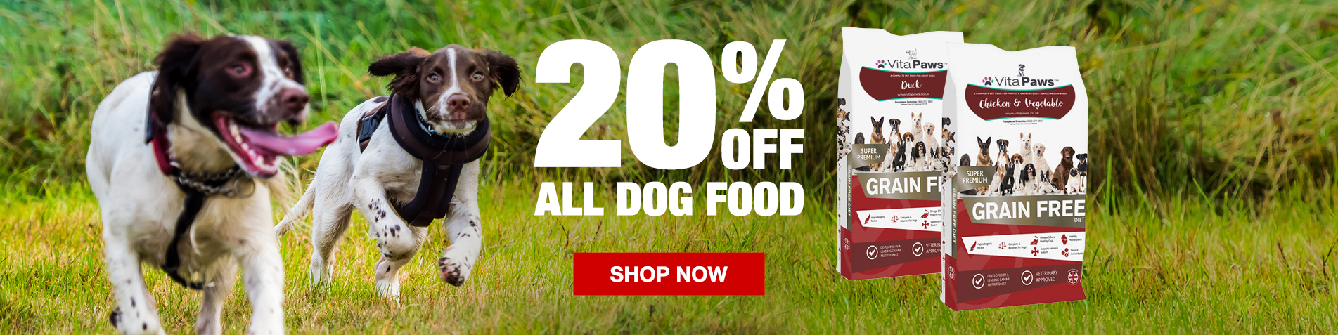 20% off all dog food