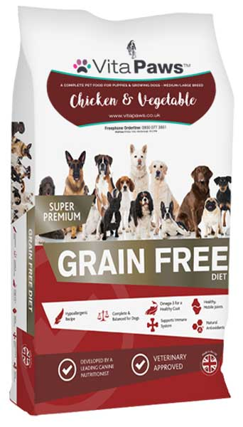 Puppy & Junior Chicken & Vegetables (Medium/Large Breed) Dog Food