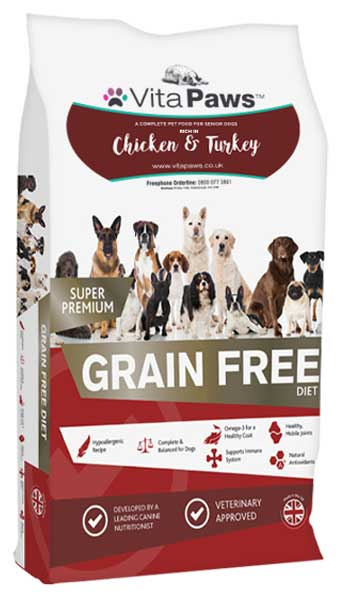 Senior Grain Free Dog Food Rich in Chicken & Turkey